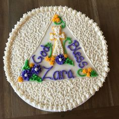 Zara's Baptism Cake - another one of my favorites! :-)