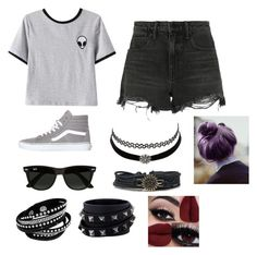"""""""Outta this world"""" by fuziblubunni on Polyvore featuring Alexander Wang, Chicnova Fashion, Vans, Ray-Ban, Charlotte Russe and Valentino"""