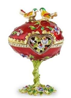 Love Bird Faberge Egg Trinket Box - pretty for valentine's day but I wonder if the quality is good
