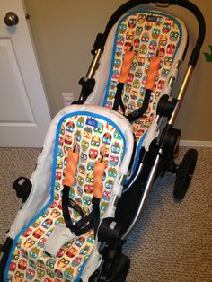 2 City select-baby jogger liners and 2 strap pad sets - custom fit stroller liner