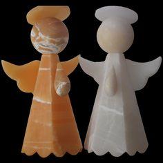 Lámpara de Onix en forma de Angel elaboradas de manera artesanal. Para mayor información en onixcarrera.com.mx