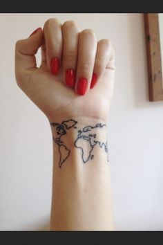 World Tattoo , Wrist Tattoo - would never get it but love the look