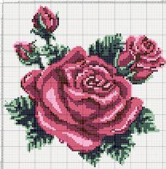 https://flic.kr/p/A4NhVv | roses102 | схема на 102 петли