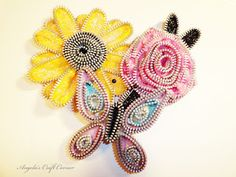Zipper Flowers!!! - Scrapbook.com