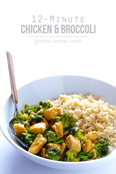 This classic chicken and broccoli recipe is full of fresh and delicious flavor, and it's ready to go in just 10 minutes! Phase 2 friendly. Phase 1, skip rice. Notes: use 1 tsp splenda instead of honey. Use 1 tsp of olive oil. Skip sesame seeds. #stateofslim #quick #easy #dinner #meals #recipes #clean #cleaneating #healthy