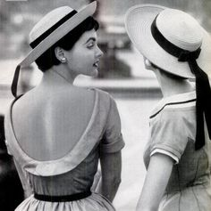 hats by John Frederics, summer dresses by Junior Sophisticates, photo Paul Himmel, 1954