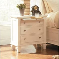 Add incredible function and style to your bedroom with the Coaster Furniture Sandy Beach 3 Drawer Nightstand . This elegantly crafted nightstand features. 3 Drawer Nightstand, White Nightstand, Drawer Knobs, Murphy Bed Plans, Murphy Beds, Metal Drawers, Storage Drawers, Storage Cabinets, Kitchen Storage