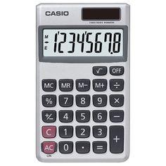 Casio Wallet Solar Calculator With 8-digit Display