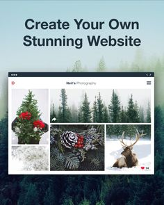 It's cold outside - stay in and create your website.