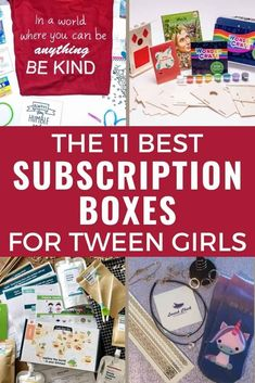 Tween girl subscription boxes are so much fun! Need a fun gift for a tween girl? Choose a subscription box! The best subscription boxes for tweens are here! Mom Advice, Parenting Advice, Kids And Parenting, Tween Girl Gifts, Tween Girls, Subscription Boxes For Tweens, Monthly Crates, Craft Activities For Kids, Raising Kids