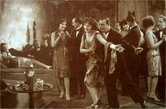 Revelers dance at a New Year's Eve party, 1923.
