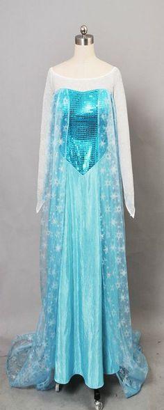 Frozen Snow Queen Elsa Fancy Dress Cosplay Costume (M, Dress)