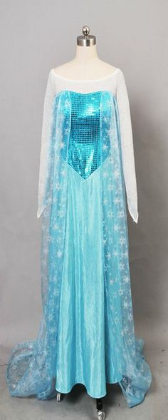 Frozen Snow Queen Elsa Fancy Dress Cosplay Costume (M, Dress)