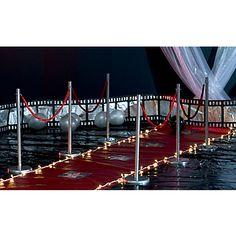 Elegant Red Rope Railing Set