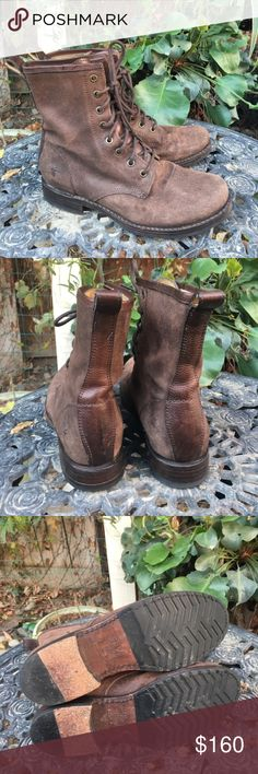 Frye Veronica Combat Boots Size 8 Pair of barely worn Frye Veronica boots. Frye Shoes Combat & Moto Boots