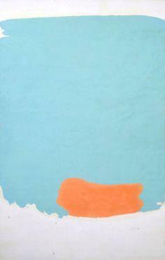 Friedel Dzubas, Azure, 1962.  Oil on canvas, 87 x 54 in. (221 x 137.2 cm.)…