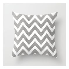Gray Chevron Throw Pillow ($20) ❤ liked on Polyvore featuring home, home decor, throw pillows, graphic throw pillows, zig zag throw pillows, grey toss pillows, grey throw pillows and grey chevron throw pillow