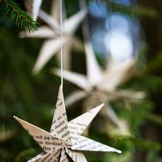 LUUKKU 1: PAPERITÄHTI Christmas Crafts, Christmas Decorations, Xmas, Christmas Ornaments, Holiday Decor, Origami, Diy And Crafts, Diy Ideas, Gifts