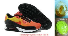 size 40 f9332 86822 Cheap Summer Mens Nike Air Max 90 Premiun EM Sunset Black Yellow Orange  554719 887 Sale Best(Chalcedony Pendant and Neon Green Lace)