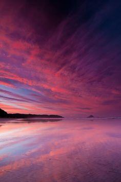 Sunset on the Bay of Plenty , New Zealand