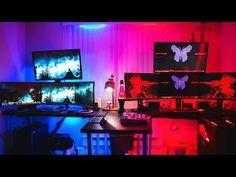 Online shop selling Face Masks, Home Security Cameras, PC Gaming, and whatever else we think is cool for us big kids! Gaming Computer Setup, Gaming Room Setup, Gaming Rooms, Duel Game, Bedroom Setup, Video Game Rooms, Game Room Design, Studio Room, Gamer Room