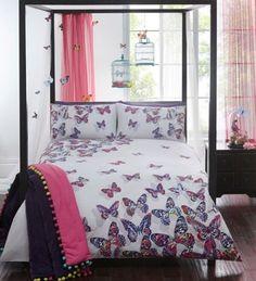 Matthew Williamson Designer White 'Painted Butterflies' Bedding Set.......