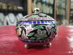 Jewelry Box, Unique Jewelry, Pill Boxes, Handmade Silver, Enamel, Etsy Shop, Antiques, Handmade Gifts, Vintage