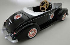 Pedal-Car-Rare-1940s-Ford-Vintage-Hot-Rod-Sport-Midget-Metal-Show-Model-Art