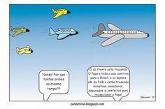 Congestionamento aéreo com a chegada do Papa...