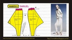 Saruel pants.  Look at Eileen Fisher pants I like and draft pattern using these guidelines.