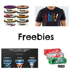 FREE T-shirt, FREE Razor, FREE Coke 12 Packs, FREE Yogurt, and MUCH MORE!! See list here http://www.freebiequeen13.net/free-samples.html