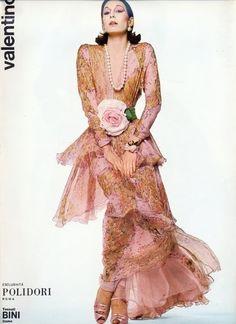 Valentino- Anjelica Huston  #vintage