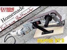 Best Extreme Homemade BeltSander You've seen (Anglegrinder hack) - YouTube