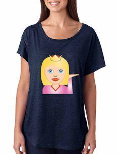 Emoji Princess Women's Tri-Blend Dolman shirt