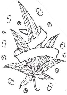 Drawings of leafs tribal vine with leaves weed leaf drawing easy Leaf Coloring Page, Love Coloring Pages, Printable Adult Coloring Pages, Coloring Books, Coloring Sheets, Weed Art, Tattoo Ideas, Street Art, Painting Art