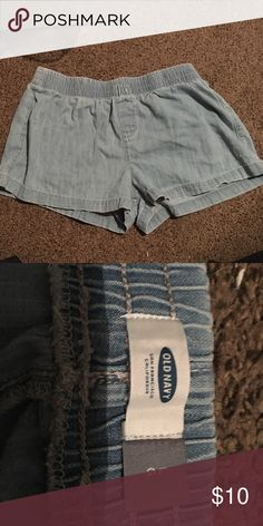 Denim shorts Light wash denim shorts. Worn a handful of times. Very comfortable, and can be dressed up or down. Old Navy Shorts Jean Shorts
