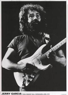 Jerry Garcia Copenhagen 1972 Grateful Dead Music Poster 24x33