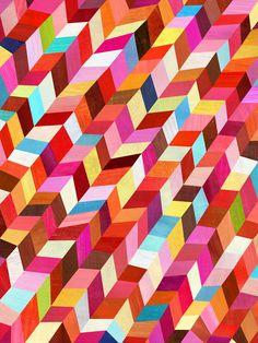 """Red, Red Rhombus, Geometric Art Print, 12""""x16"""". $48.00, via Etsy."""