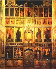 Iconostasis of the Church of the Annunciation  Designed by Theophanes the Greek