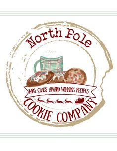 Claus North Pole Cookie Company Free Gift Tag Printable to add to your goodies! Christmas Labels, Free Christmas Printables, Disney Christmas, Free Printables, Christmas Ideas, Diy Memo Board, Cookie Company, Free Printable Gift Tags, Disney Scrapbook