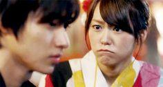 "Kento Yamazaki x Mirei Kiritani, J live-action movie of manga, romantic comedy ""Heroine Shikkaku (No Longer the Heroine)"". Release: 09/19/2015."