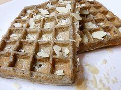 Gaufres au sarrasin Lactose Free, Dairy Free, Gluten Free, Waffle Iron, Candle Jars, Waffles, Breakfast Recipes, Brunch, Tasty