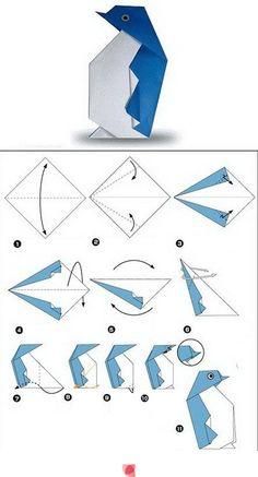 Pingüino de papel