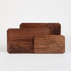 Handcrafted from a single piece of solid wood, these cutting boards are treated with an exclusive, food safe and completely natural organic