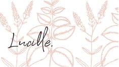 Lucille logo - designed by Here + Now Creative Co. | Lucille is a feminine conceptual clothing company inspired by a laid-back luxe style. Designed with the free-spirited and unapologetic girl in mind, Lucille is a brand that inspires. We paired light feminine colors with a handwritten logo to give the brand its simple and unprocessed design. | logo design, branding design, feminine logo, logo inspiration, illustrated logo, branding with pattern, logo with florals