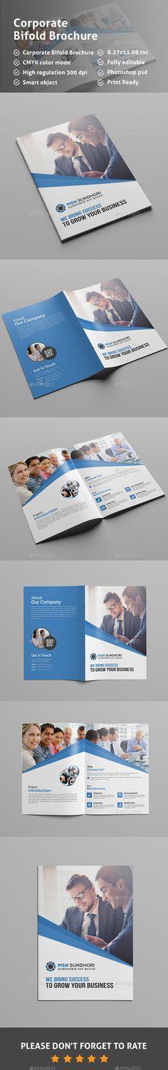 Bi-Fold Multipurpose Brochure Bi Fold Brochure, Corporate Brochure, Business Brochure, Brochure Design, Brochure Template, Medical Brochure, School Brochure, Graphic Design, Brochures