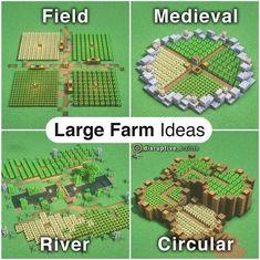 Minecraft Farmen, Minecraft Building Guide, Minecraft House Tutorials, Minecraft Cottage, Minecraft Medieval, Amazing Minecraft, Minecraft Tutorial, Minecraft Blueprints, Minecraft Designs