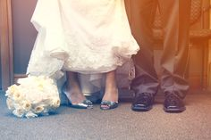 Don't forget to get a photo of the bride and groom's shoes together! Photo by Kelly M. #MinneapolisWeddingPhotographer
