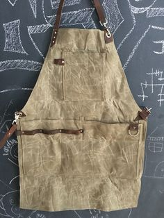 Waxed canvas utility apron. Oldsoulbags on etsy and IG
