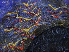 Acrilico su tela (50x60) Jessica Zahut, finger painting artist